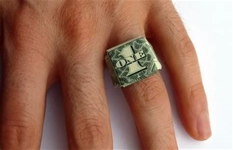 Origami Ring Money - how to fold a dollar bill ring fold a dollar bill into