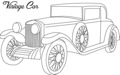 printable coloring pages of old cars vintage car coloring printable page for kids 3