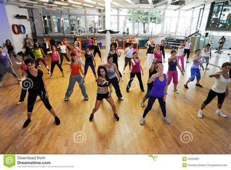 zumba exercise tutorial people dancing during zumba training fitness at a gym