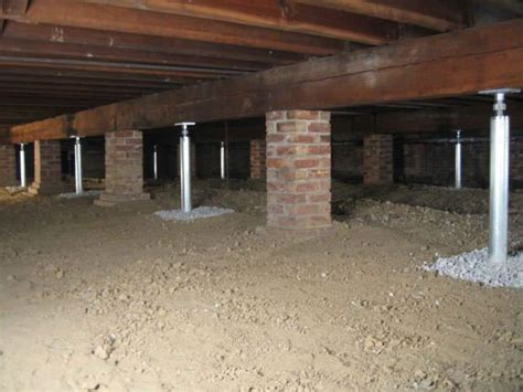 crawl space vs basement cost the smartjack 174 system provides solid support for sagging and undersized beams restoring