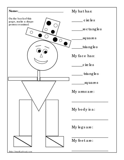 printable math worksheets shapes 14 best images of 3d shapes worksheets printables