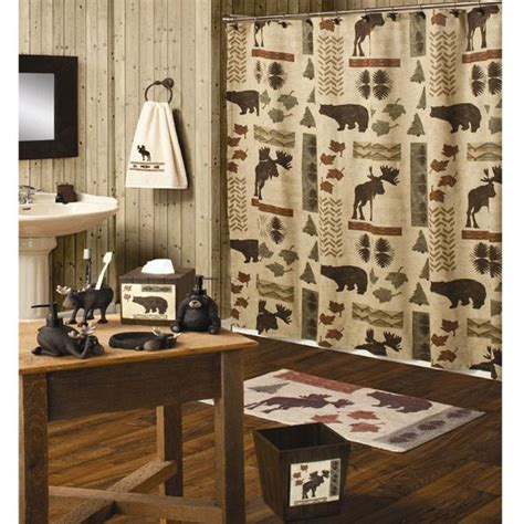 Moose And Bathroom Decor by Moose Shower Curtain Etc Moose And