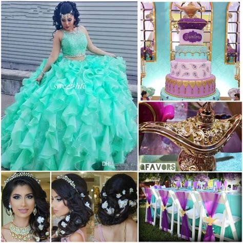 cute themes for quinces quince theme decorations disney jasmine and aladdin