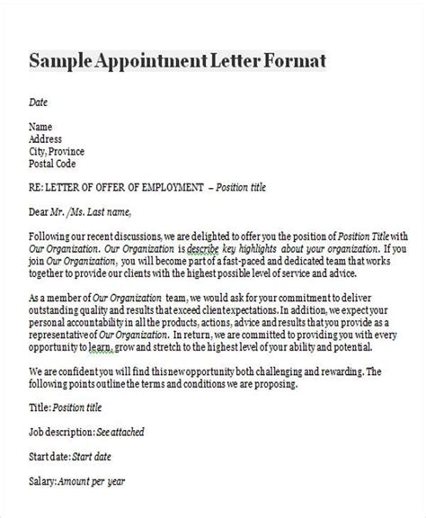 appointment letter format for tax consultant sle dental appointment reminder letter docoments ojazlink