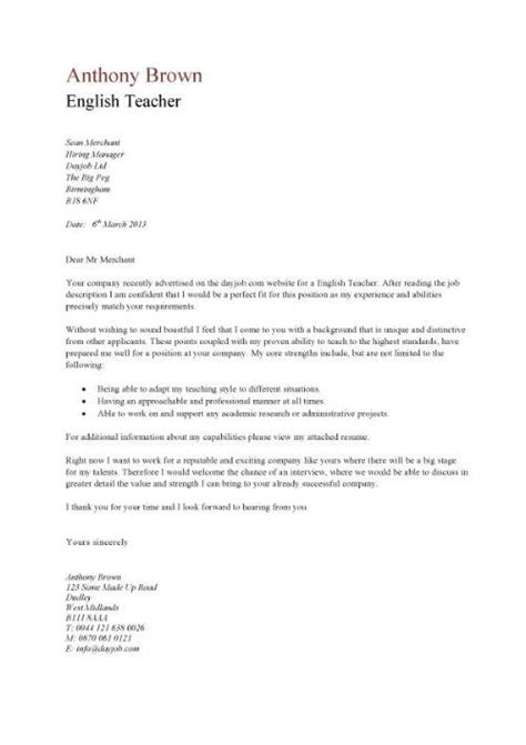 sle tutor cover letter cv sle assign and grade class work