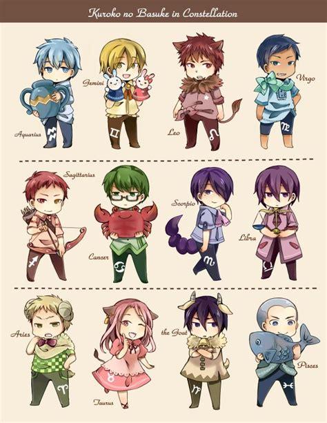 Anime Zodiac Signs by Knb Zodiac Signs Kuroko No Basuke Zodiac Signs