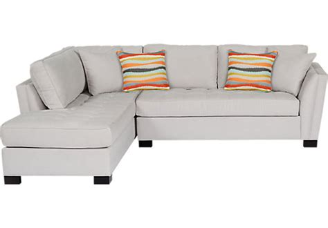 cindy crawford sectional rooms to go cindy crawford home calvin heights platinum 2 pc sectional