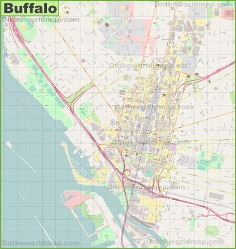buffalo map buffalo downtown map