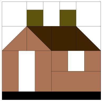 house pattern house quilt block pattern casas de tecido pinterest