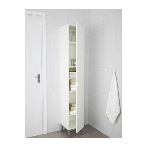 Ikea Bathroom Storage Solutions Lill 197 Ngen High Cabinet White 30x38x179 Cm Ikea