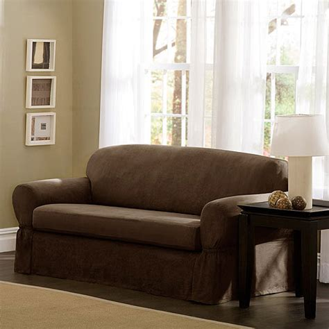 Better Homes And Gardens Stretch Suede Sofa Slipcover Suede Sofa Slipcovers