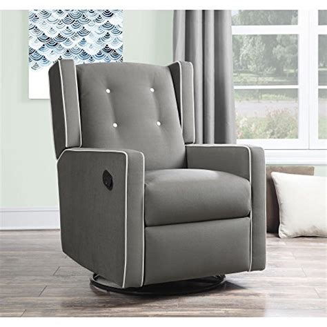 Baby Recliner Sleeper by Baby Relax Mikayla Swivel Gliding Recliner Gray