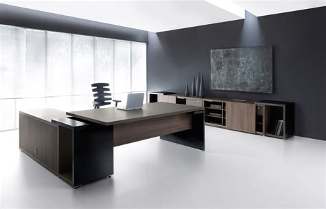 Executive Desks Modern Ultra Modern Executive Black Desk Ambience Dor 233