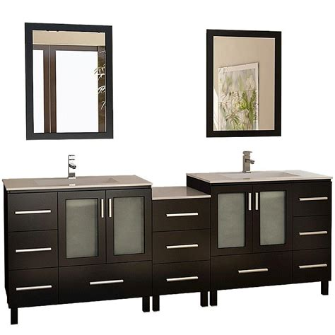 home depot design element vanity design element galatian 88 in vanity in espresso with