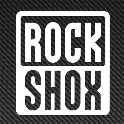 Rock Shox Logo Stickers by Rockshox Rock Shox Logo Vinyl Sticker Decal Car Window
