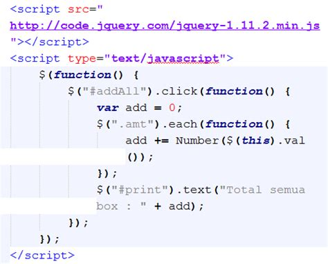 membuat jam digital dengan php dan jquery membuat fungsi sum all dengan jquery