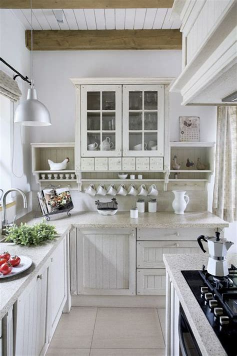 country kitchen ideas white cabinets small country white kitchen like the glass door top