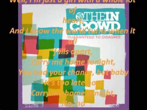 we are the in crowd carry me home with lyrics