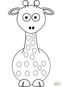 click the cartoon giraffe coloring cartoon giraffe
