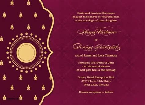 indian hindu wedding invitation cards templates free indian wedding invitation card ideas wedding invitation