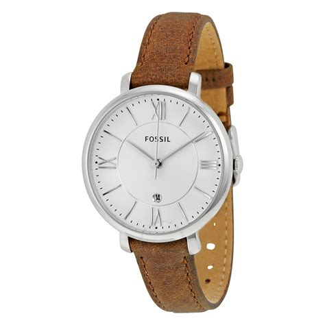 fossil jacqueline silver leather