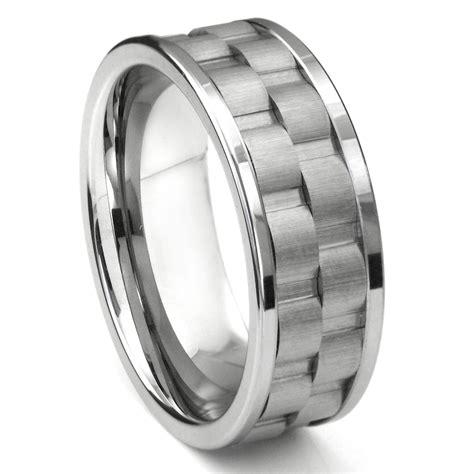 Wedding Bands Tungsten Carbide by Tungsten Carbide 9mm Coinedge Wedding Band Ring