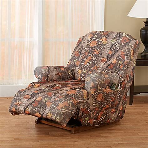 camouflage recliner slipcovers great bay home kings strapless slipcover recliner in camo