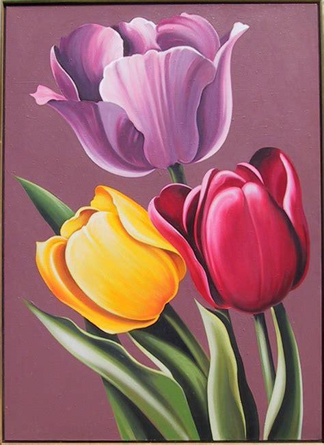cuadros tulipanes cuadros modernos pinturas y dibujos tulipanes cuadros