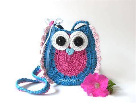 owl tote bag crochet pattern free owl purse bag girls pattern crochet colorful