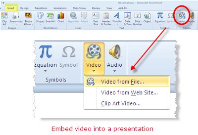 file format to embed video in powerpoint how to create a slideshow and insert it into powerpoint