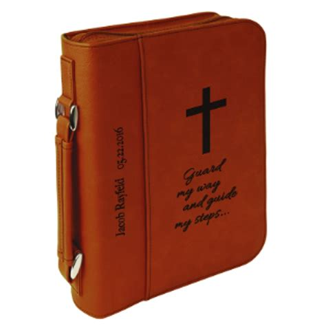 Leather Wedding Bible by Personalized Faux Leather Bible Cover