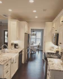 Galley Kitchen Design With Island Best Galley Kitchen With Island Designs House Design And