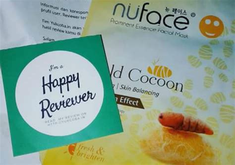 Masker Nuface nuface prominent essence mask gold cocoon yukcoba in