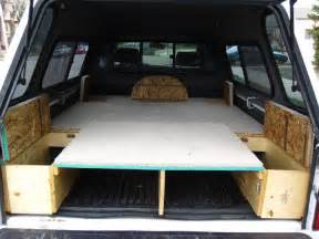 Truck Canopy Bed Ideas Tacoma Sleeping Platform Carpet Kit Cing Setup