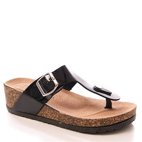 comfortable walking wedges ladies womens footbed sandals wedges causal comfort