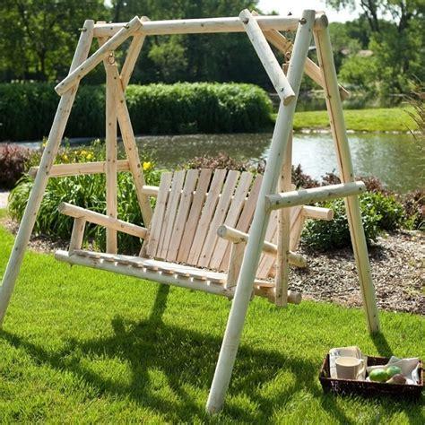 log porch swings outdoor log swing home design garden architecture