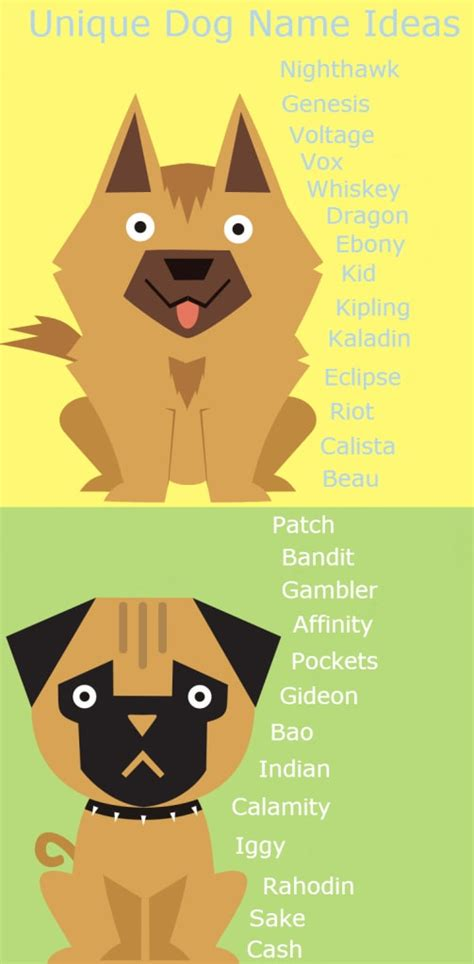 unique names for puppies unique names