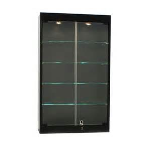 Display Cases Tempered Glass Wall Mounted Glass Display Cabinet W Tempered Glass Doors