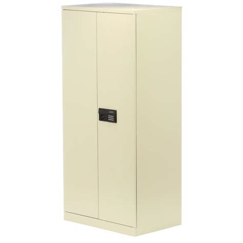 Electronics Storage Cabinet Sandusky 78 In H X 36 In W X 24 In D 5 Shelf Steel Assembly Keyless Electronic Coded