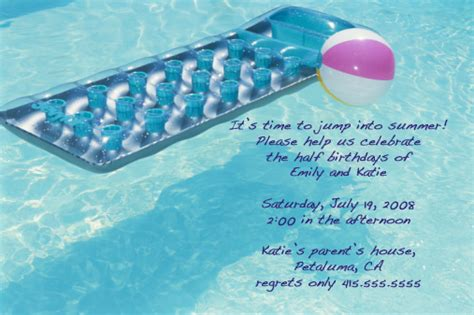 Come With Me Pool Invites by Come With Me Pool Invite Popsugar Food