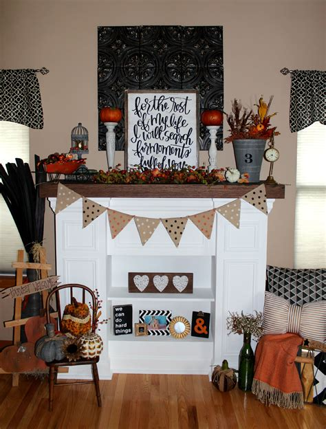 Thanksgiving Home Decorations Ideas by Fireplace Mantel Decorating For Fall Ellery Designs