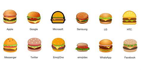 emoji burger internet debates cheese placement in burger emoji sundar