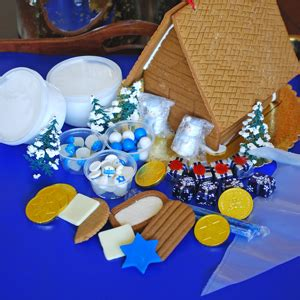 hanukkah gingerbread house kit the solvang bakery hanukkah christmas gingerbread house kits with pictures of