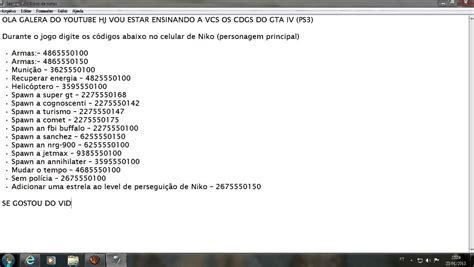 codigo do gta 4 xbox c 211 digos gta iv para ps3 youtube