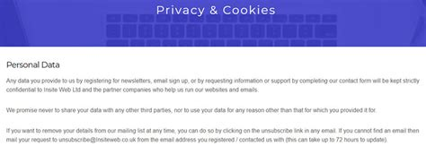 Gdpr And Your Sme Website What You Need To Know Insite Web Gdpr Cookie Policy Template
