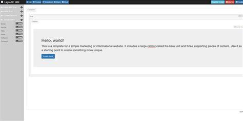 layoutit free 10 free minimal bootstrap framework starter templates