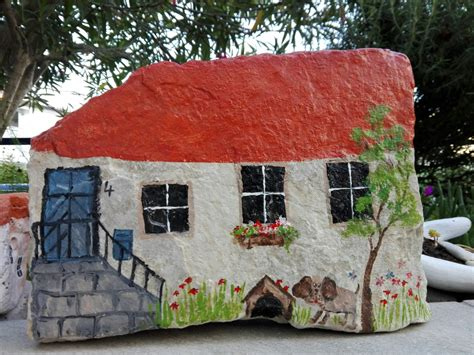 the dog house little rock make painted fairy rock house acrylic craft paint sealer