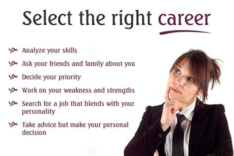 Choosing The Right For You by 7 Powerful Tips To Select The Right Career Careertips