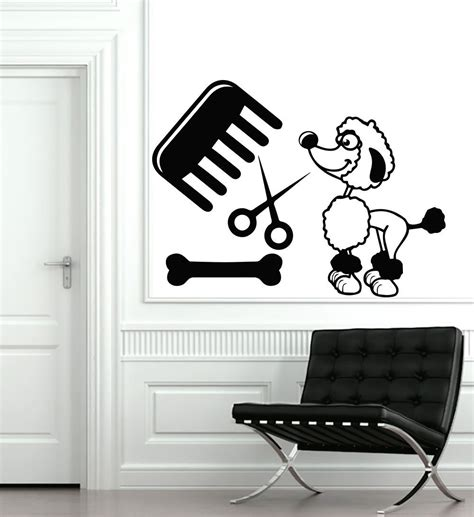 puppy wall stickers puppy grooming salon wall sticker pet store wall