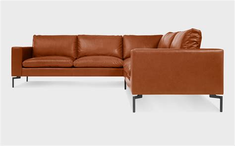 Pigmented Leather Sofa New Standard Small Leather Sectional Sofa Modern Sofas And Sectionals Bludot